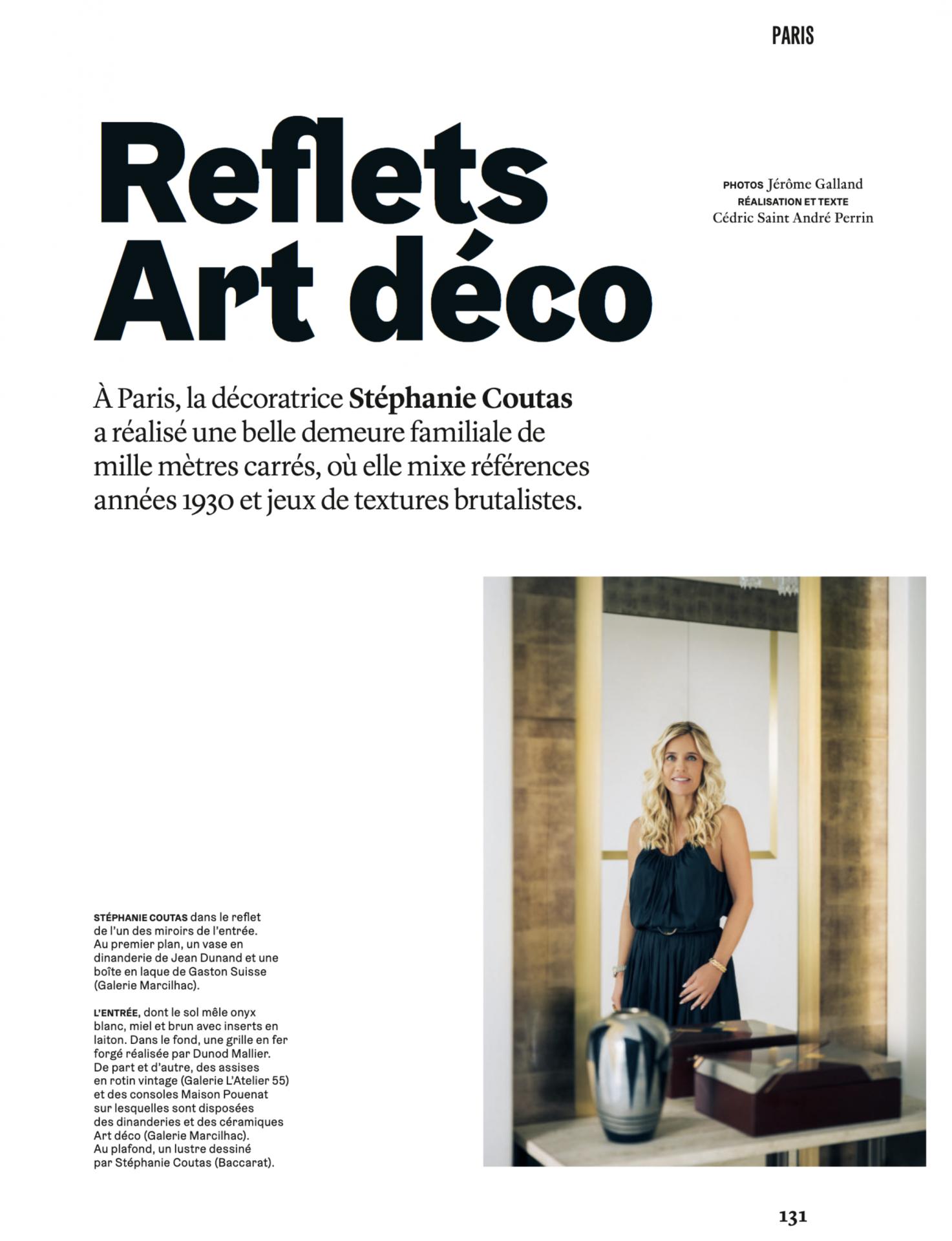 Stephanie Coutas architecte d'intérieur : Reflet Art Déco